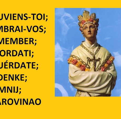 REMEMBER; RICORDATI; POMNIJ; SOUVIENS-TOI;...