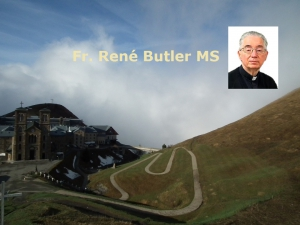 Fr. René Butler MS - 18th Ordinary Sunday - Think of What is Above
